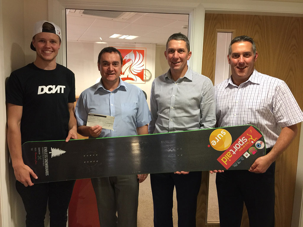 Brandon Cain receives snowboarding sponsorship